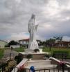 San Nicolò d'Arcidano: prospetto frontale ravvicinato della statua – Foto di Sardegna Terra di Pace – Tutti i diritti riservati