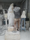 San Nicolò d'Arcidano: realizzazione statua della Regina della Pace 6 – Foto di Sardegna Terra di Pace – Tutti i diritti riservati
