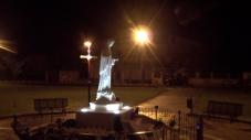 San Nicolò d'Arcidano: prospetto laterale sinistro notturno – Foto di Sardegna Terra di Pace – Tutti i diritti riservati