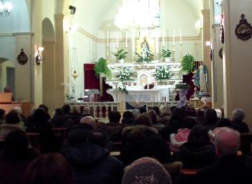 San Nicolò d'Arcidano: messa nella chiesa di San Nicolò Vescovo (2) – Foto di Sardegna Terra di Pace – Tutti i diritti riservati
