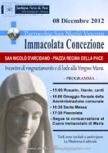 Locandina Immacolata Concezione - 2012