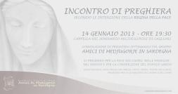 Locandina Incontro di Preghiera Settimanale del 14 Gennaio 2013