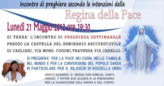 Locandina Incontro di Preghiera Settimanale del 21 Maggio 2012