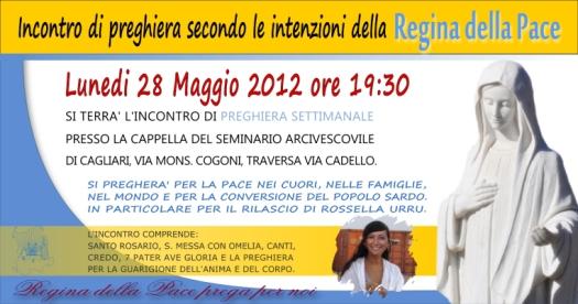 Locandina Incontro di Preghiera Settimanale del 28 Maggio 2012
