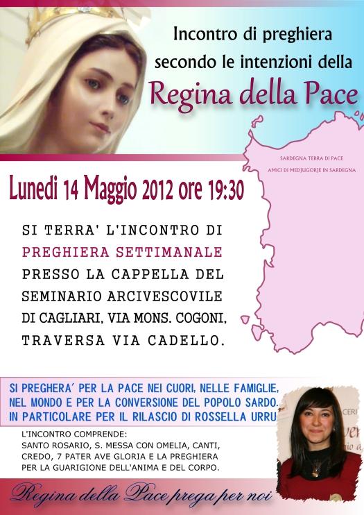 Locandina Incontro di Preghiera Settimanale del 14 Maggio 2012