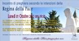 Locandina Incontro di Preghiera Settimanale del 1 Ottobre 2012