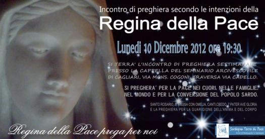 Locandina Incontro di Preghiera Settimanale del 10 Dicembre 2012