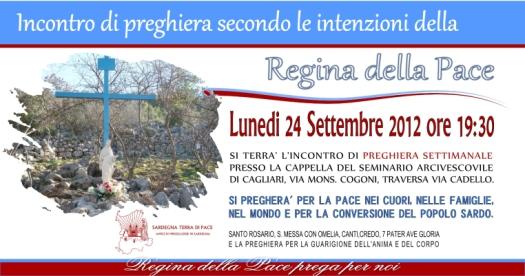 Locandina Incontro di Preghiera Settimanale del 24 Settembre 2012