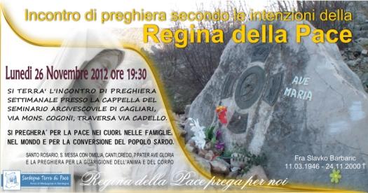 Locandina Incontro di Preghiera Settimanale del 26 Novembre 2012