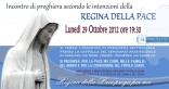 Locandina Incontro di Preghiera Settimanale del 29 Ottobre 2012