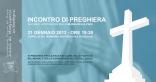 Locandina Incontro di Preghiera Settimanale del 21 Gennaio 2013
