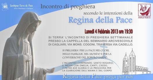 Locandina Incontro di Preghiera Settimanale del 4 Febbraio 2013
