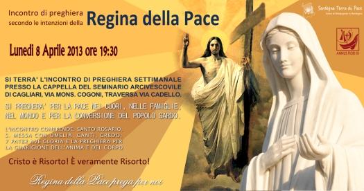 Locandina Incontro di Preghiera Settimanale dell'8 Aprile 2013