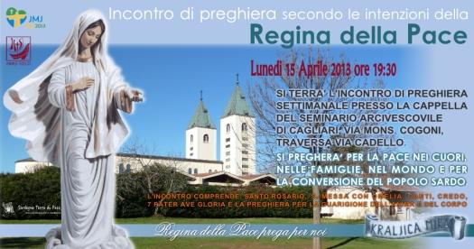 Locandina Incontro di Preghiera Settimanale del 15 Aprile 2013