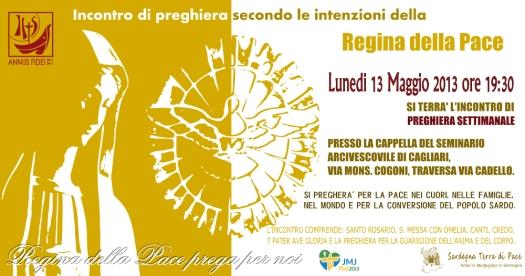 Locandina Incontro di Preghiera Settimanale del 13 Maggio 2013