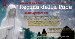 Locandina Incontro di Preghiera Settimanale del 3 Giugno 2013