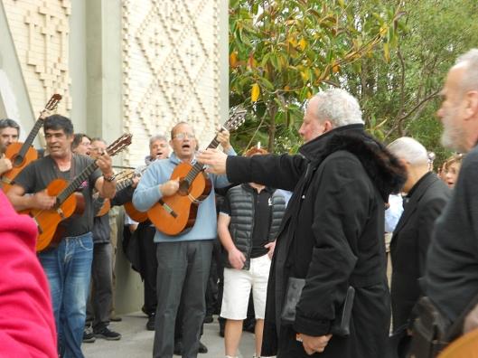 Arrivo di Kiko Argüello presso la B. V. della Salute