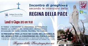 Locandina Incontro di Preghiera Settimanale del 10 Giugno 2013