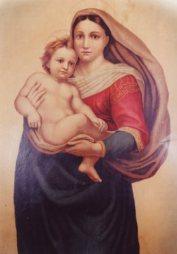Quadro della Madonna Sistina che più volte parlò con Edvige e che le diede il Bambino - Foto del Comitato Serva di Dio Edvige Carboni - Tutti i diritti riservati