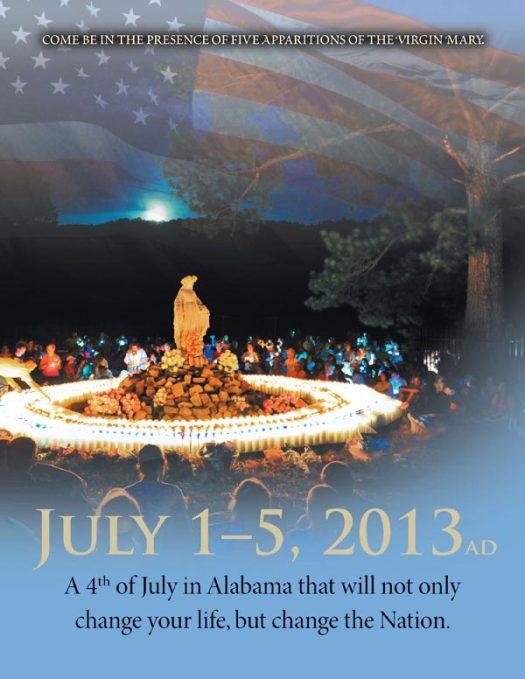 Copertina della brochure sugli incontri di Marija in Alabama (USA) - Foto di mej.com - Tutti i diritti riservati