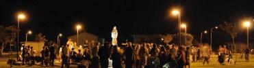 San Nicolò d'Arcidano: fedeli durante la veglia di preghiera - Foto di Sardegna Terra di Pace - Tutti i diritti riservati