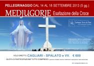 Locandina Pellegrinaggio a Medjugorje per l'Esaltazione della Croce 2013 – Foto di Sardegna Terra di Pace – Tutti i diritti riservati