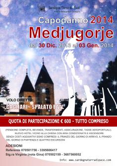 Locandina Capodanno Medjugorje 2014 – Foto di Sardegna Terra di Pace – Tutti i diritti riservati