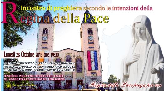 Locandina Incontro di Preghiera Settimanale del 28 Ottobre 2013
