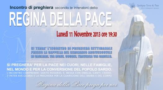 Locandina Incontro di Preghiera Settimanale del 11 Novembre 2013