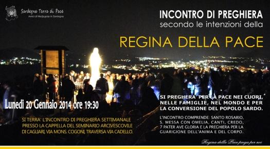 Locandina Incontro di Preghiera Settimanale del 20 Gennaio 2014