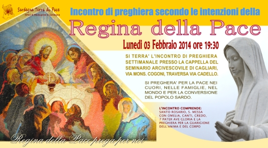 Locandina Incontro di Preghiera Settimanale del 03 Febbraio 2014
