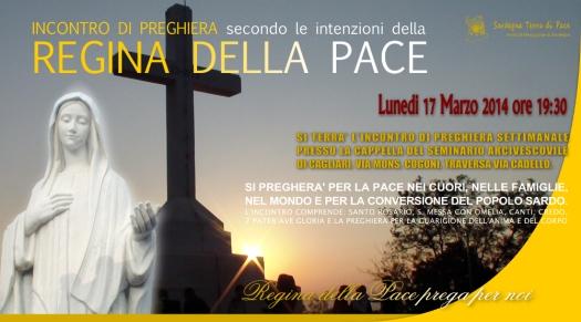 Locandina Incontro di Preghiera Settimanale del 17 Marzo2014