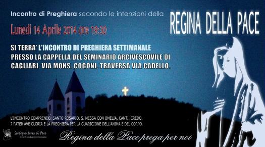 Locandina Incontro di Preghiera Settimanale del 14 Aprile 2014