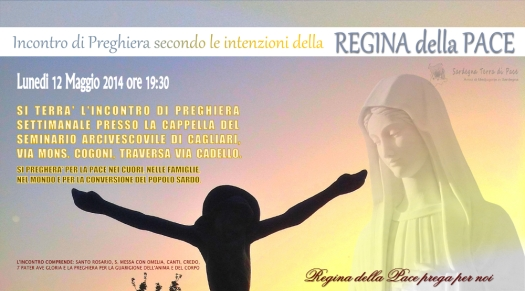 Locandina Incontro Preghiera Settimanale del 12 Maggio 2014