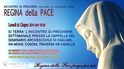 Locandina Incontro di Preghiera Settimanale del 02 Giugno 2014