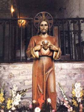 Statua del Sacro Cuore che lacrimò e sanguinò tra il 1948 ed il 1950