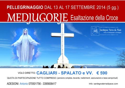 Locandina Pellegrinaggio Medjugorje per l'Esaltazione della Croce 2014 - Foto di Sardegna Terra di Pace – Tutti i diritti riservati