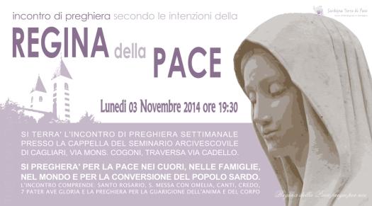 Locandina Incontro di Preghiera Settimanale del 03 Novembre 2014