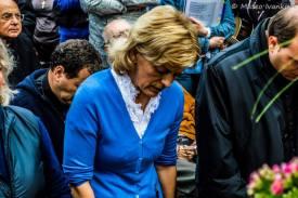Mirjana in raccoglimento durante l'apparizione del 2 Ottobre 2014 - Foto di Mateo Ivanković – Tutti i diritti riservati