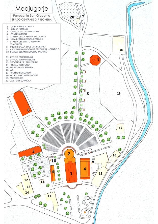 """Planimetria """"Spazio Centrale di Preghiera"""" Medjugorje"""