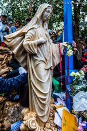 Statua della Gospa durante l'apparizione del 2 Ottobre 2014 - Foto di Mateo Ivanković – Tutti i diritti riservati