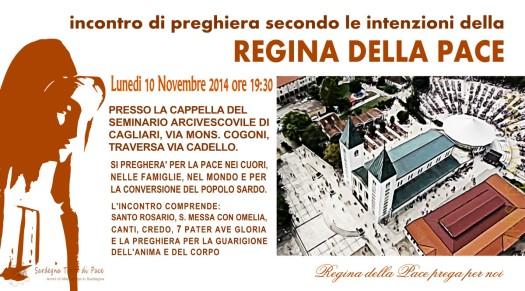 Locandina Incontro di Preghiera Settimanale del 10 Novembre 2014