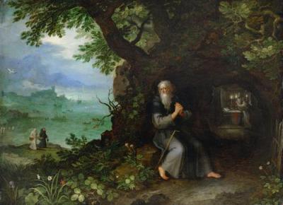 San Fulgenzio nel deserto - Opera di Jan Brueghel il Vecchio - Tutti i diritti riservati