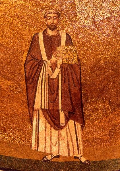 Mosaico con San Simmaco nella Basilica di Santa Agnese fuori le mura a Roma - Foto di FlagUploader - Tutti i diritti riservati