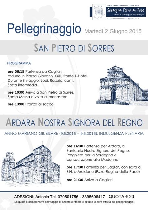 Locandina Pellegrinaggio in Sardegna 2015