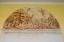 San Pietro di Sorres: Pitture nel porticato sulla vita di San Bernardo – Foto di Sardegna Terra di Pace – Tutti i diritti riservati