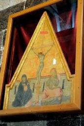 Basilica Nostra Signora del Regno: Affresco sulla crocifissione di Cristo– Foto di Sardegna Terra di Pace – Tutti i diritti riservati