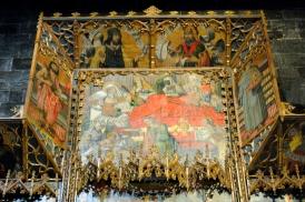 Basilica Nostra Signora del Regno: particolare del retablo maggiore (2) – Foto di Sardegna Terra di Pace – Tutti i diritti riservati