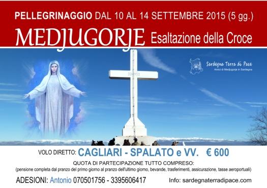 Locandina Pellegrinaggio Medjugorje per l'Esaltazione della Croce 2015 - Foto di Sardegna Terra di Pace – Tutti i diritti riservati
