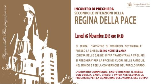 Locandina Incontro di Preghiera Settimanale del 09 novembre 2015